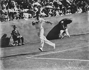 Frank Wilde - Image: State Lib Qld 2 294187 Englishman Frank Wilde hits a forehand against an Australian opponent at Milton, 1933