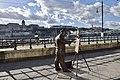 Statue of famous Hungarian painter Roskovics Ignac along the banks of Danube in Budapest, Hungary (Ank Kumar) 04.jpg