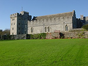 Atlantic College - Middle Lawn at St Donat's Castle.