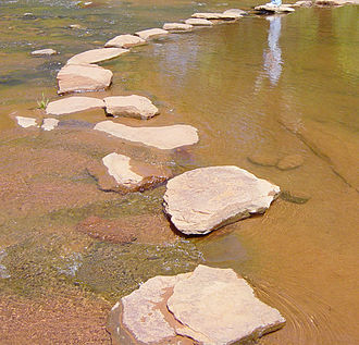 Stepping stones - Image: Step Stones 4956