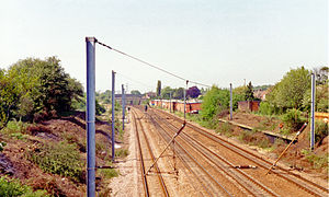Stevenage railway station - Remains of old station