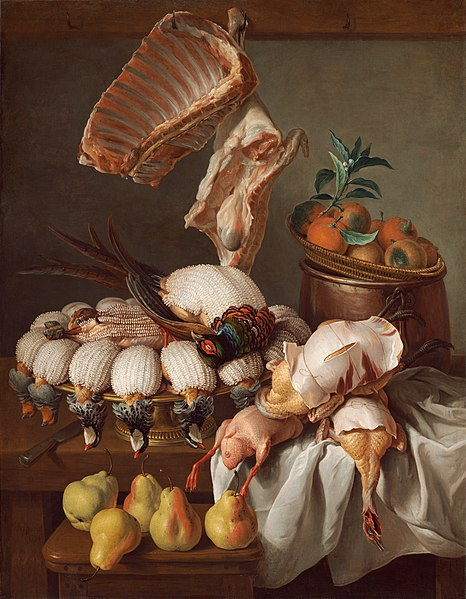 Fitxer:Still Life with Dressed Game, Meat, and Fruit A17706.jpg