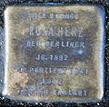 Stumbling stone for Rosa Herz (Friedrichstrasse 40)