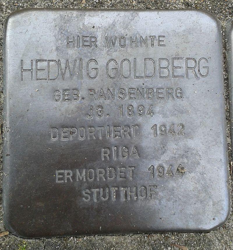 Stolperstein Datteln Carl-Gastreich-Straße 5 Hedwig Goldberg