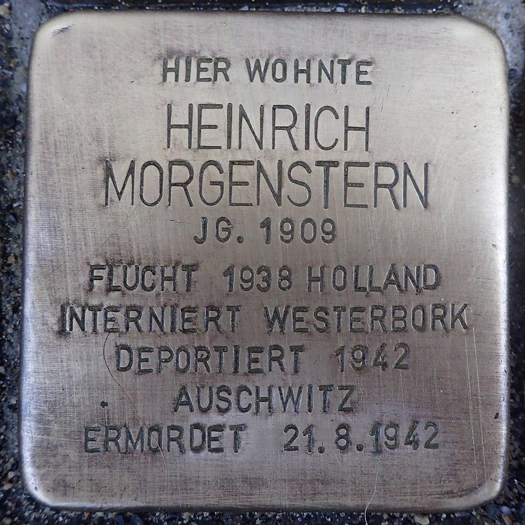 Stolperstein für Heinrich Morgenstern