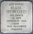 Stolperstein Karlsruhe Klara Oberndörfer 2014.jpg