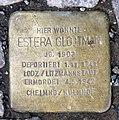 Stolperstein Konstanzer Str 55 (Wilmd) Estera Glojtman.jpg