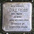 Stolperstein Remscheid Blumenstraße 13 Chaje Freund.jpg