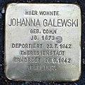 Stolperstein Stierstr 20 (Friedn) Johanna Galewski.jpg