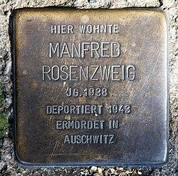 Photo of Manfred Rosenzweig brass plaque