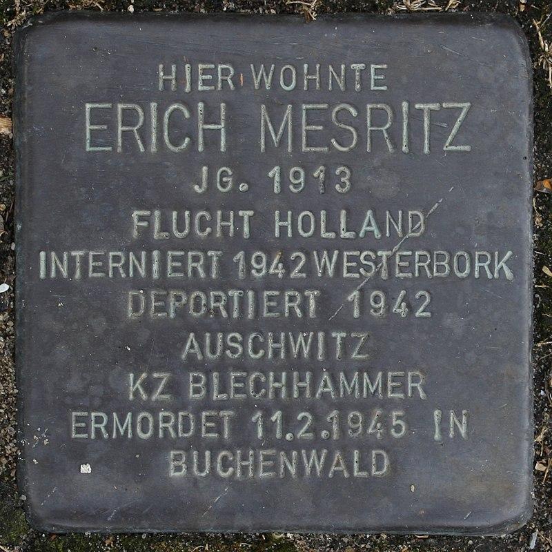Stolperstein Wendeburg Am Betonwerk 2 Erich Mesritz.jpg