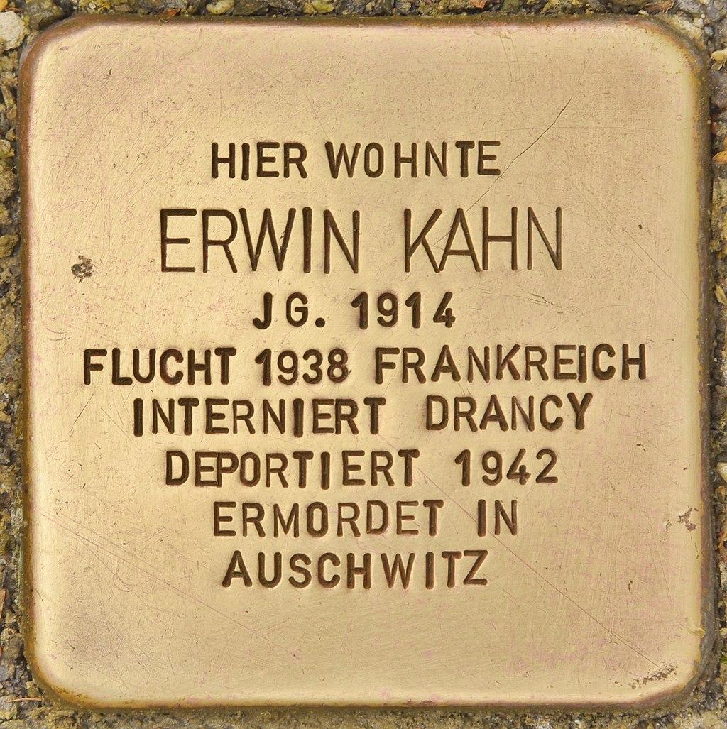 Stolperstein für Erwin Kahn (Montabaur).jpg