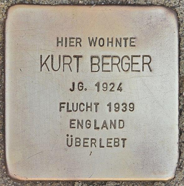 Datei:Stolperstein für Kurt Berger (Wolfenbüttel).jpg