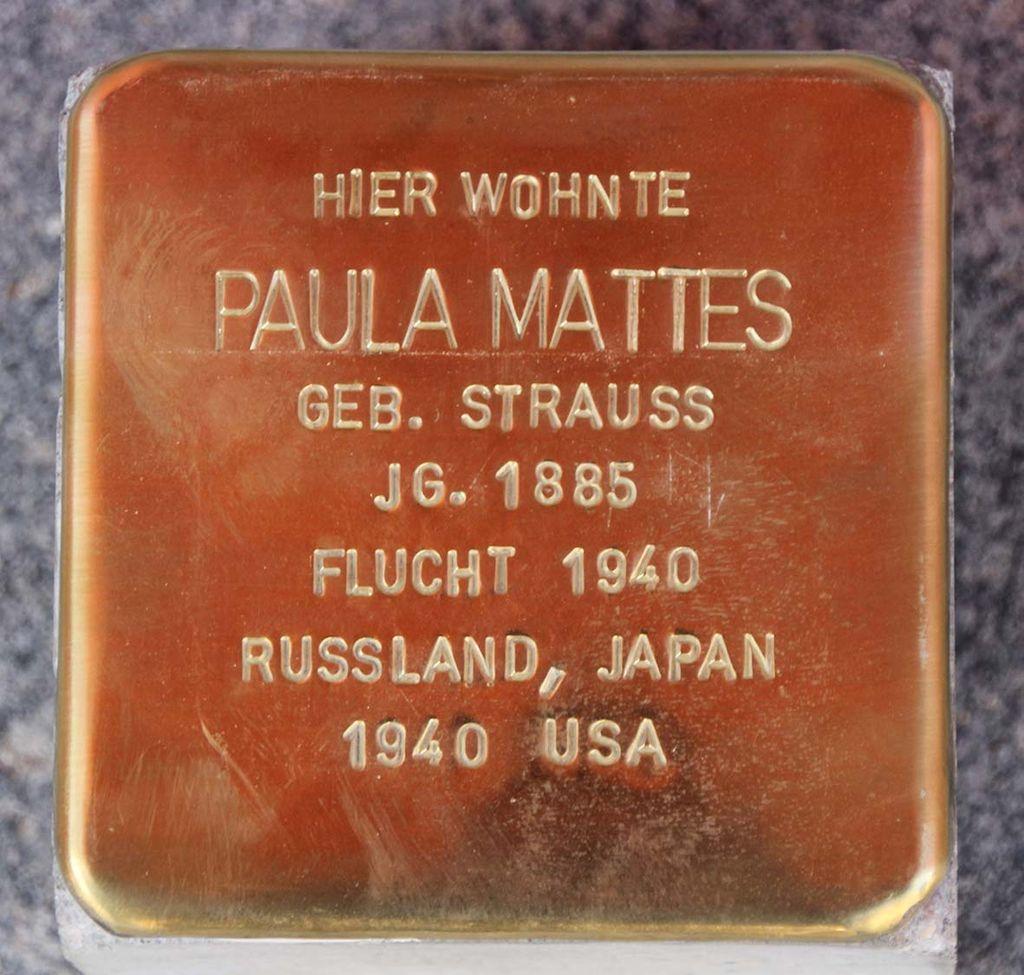 Stolperstein für Paula Mattes