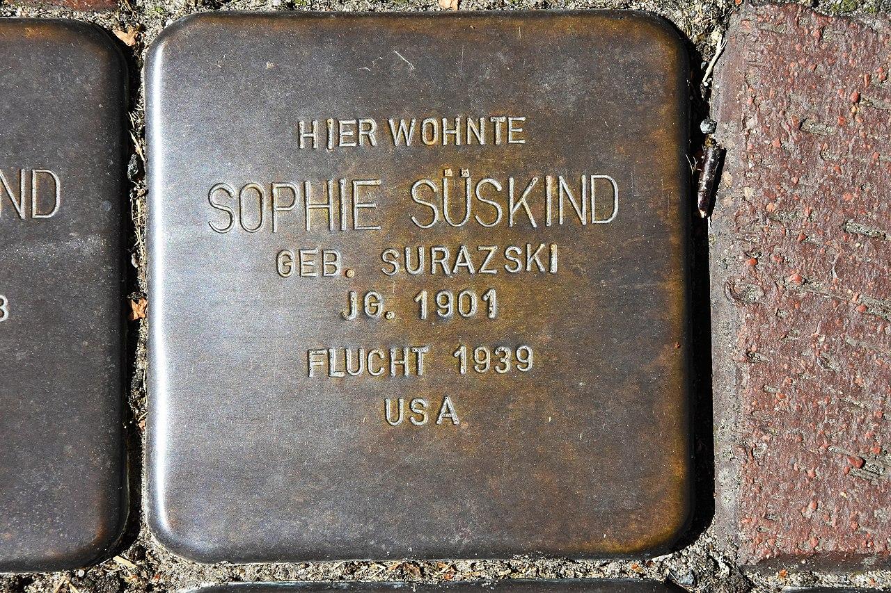 Stolperstein für Sophie Süskind