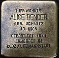 Stumbling block for Alice Bender (Lungengasse 43)