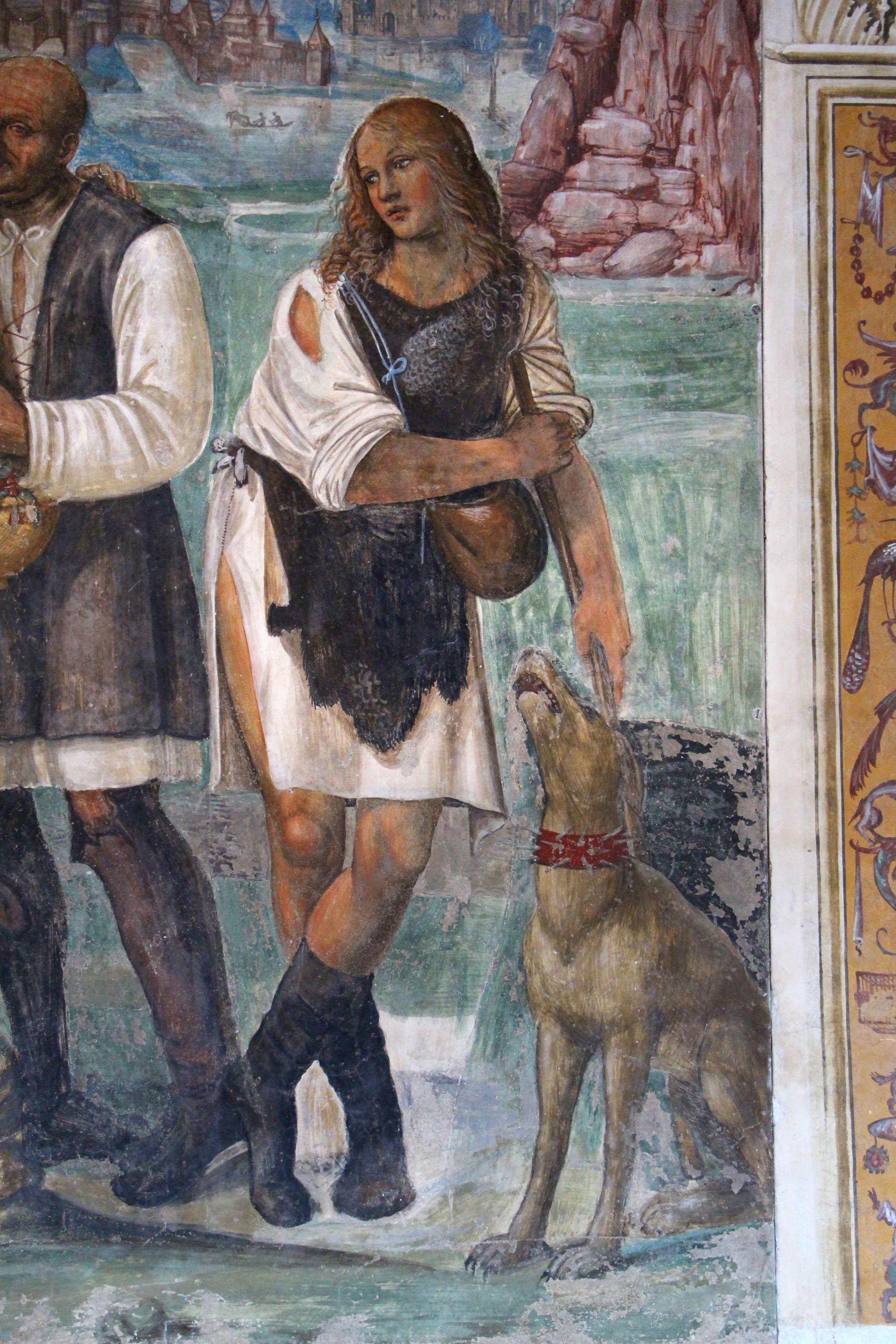 Storie di s. benedetto, 07 sodoma - Come Benedetto ammaestra nella santa dottrina i contadini che lo visitavano 05