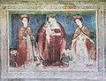 Straßburg Lieding Pfarrkirche hl. Margaretha Chorschräge außen got. Wandmalerei 22042019 6656.jpg