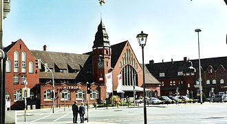 Stralsund Hauptbahnhof - Entrance of station building