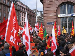Services in the Internal Market Directive 2006 - Protests against the directive in Strasbourg on 12 February 2006