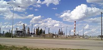 Refinery Row (Edmonton) - Imperial Oil looking northwest from the 3014 Baseline Road entrance, in June 2010.