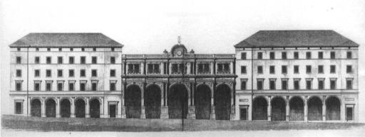 Stuttgart Bahnhof Aufriss Schlossstr 1867