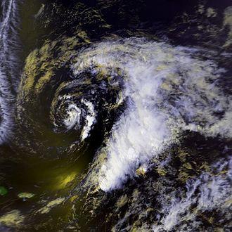 1992 Atlantic hurricane season - Image: Subtropical Storm One 22 apr 1992 1834Z