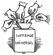 """Le suffrage universel"", 1902 French political cartoon"