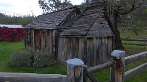 Suggan Buggan, Victoria - This entirely wooden schoolhouse was built in 1865.