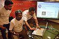 Sukanta Pal - Rangan Datta - Partha Sarathi Banerjee - Interactive Session - Wikilearnopedia - Oxford Bookstore - Kolkata 2015-08-23 3729.JPG