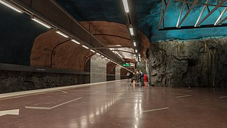 Sundbybergs centrum metro station - Image: Sundbyberg centrum May 2014 01