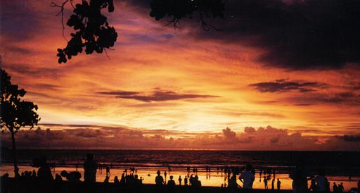 Sunset in Kuta