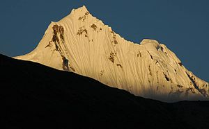 North Sikkim district - Image: Sunset om Kangchengyao in North Sikkim