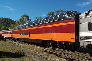 Hiawatha (train) - One of the Milwaukee Railroad's Super Dome cars.