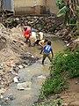 Suspected Source of Cholera- Waste Water - Nigeria (16436898133).jpg