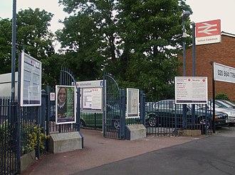 Sutton Common railway station - Image: Sutton Common stn entrance