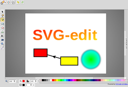 Screenshot of web based SVG-editor
