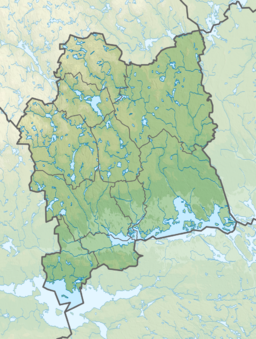 Sweden Västmanland relief location map.png