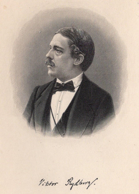 Swedish author Viktor rydberg with signature