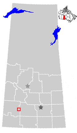 Location of Swift Current, Saskatchewan