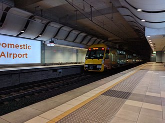 Airport Link Company - An A set at Domestic Airport station