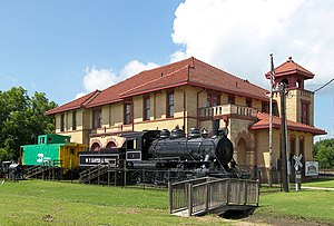 The Trinity and Brazos Valley Railroad Depot a...