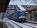 TER du matin arrivant à Chambéry sous la neige (2018).JPG