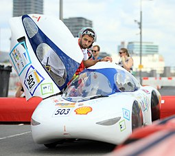 TIM07 is a Urban Concept car conceived and built by students from the association TIM (INSA Toulouse and Paul Sabatié University) between 2009 and 2015. This picture was taken in London the week of its first world record : 684.7km with 1L of ethanol !