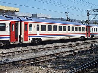 TCDD TVS2000 - TVS2000 cars at Alsancak station.