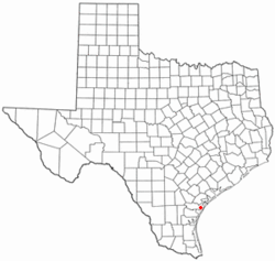 Location of Aransas Pass, Texas