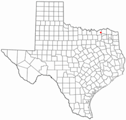 Location of Honey Grove, Texas
