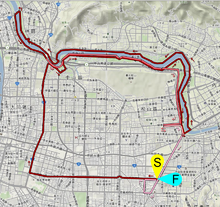 Taipei International Marathon 2012 Route map.png