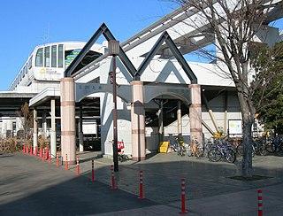 Tamagawa-Jōsui Station Railway and monorail station in Tachikawa, Tokyo, Japan