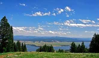 Valley County, Idaho - View from the top of West Mountain at Tamarack Resort, overlooking Lake Cascade to the east